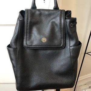 Black leather Tory Burch backpack